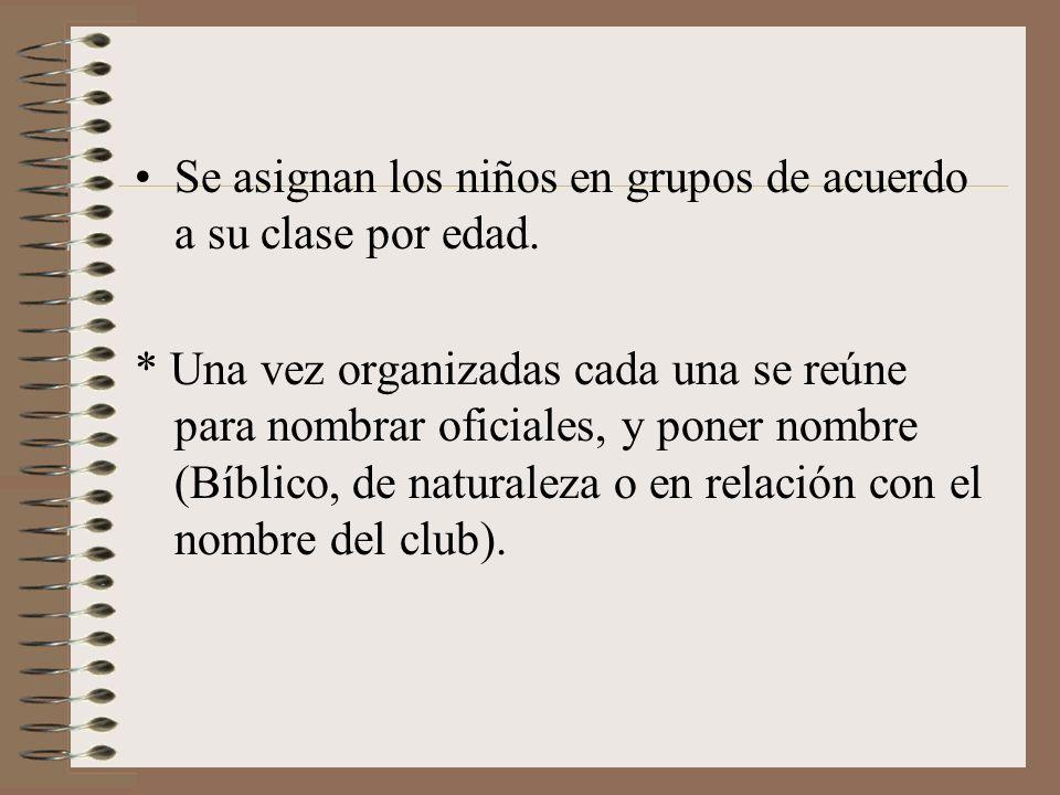 ORGANIZACIÓN DE UNIDADES DURANTE LA 3a. O 4a. REUNIÓN Métodos sugerentes: La comisión directiva y organiza luego de un análisis del grupo. Una semana