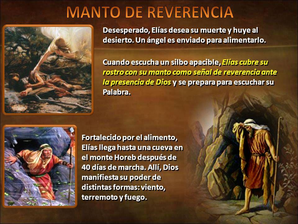 No fue mediante grandes manifestaciones del poder divino sino por un silbo apacible, cómo Dios prefirió revelarse a su siervo.