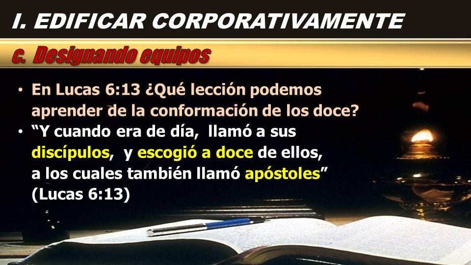 En Lucas 6:13 ¿Qué lección podemos aprender de la conformación de los doce? En Lucas 6:13 ¿Qué lección podemos aprender de la conformación de los doce