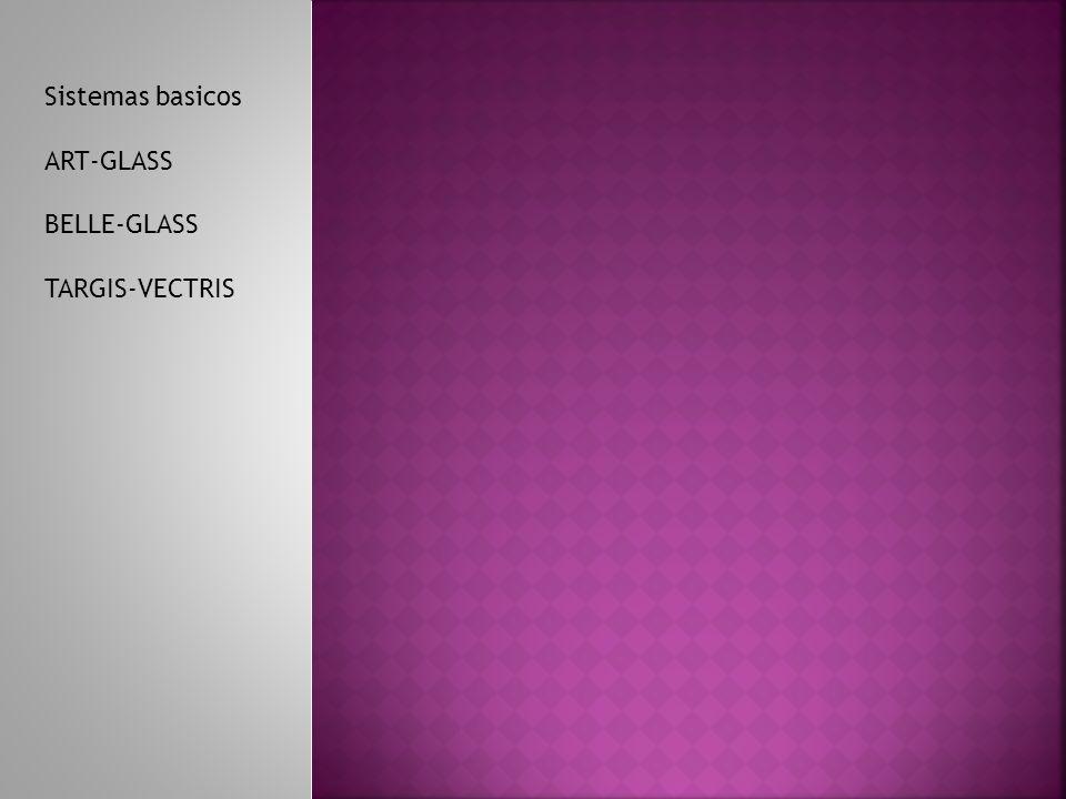 Sistemas basicos ART-GLASS BELLE-GLASS TARGIS-VECTRIS