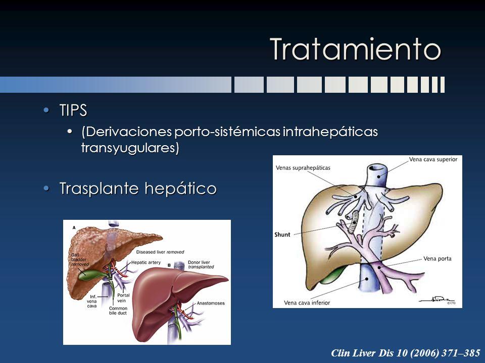 Tratamiento TIPSTIPS (Derivaciones porto-sistémicas intrahepáticas transyugulares)(Derivaciones porto-sistémicas intrahepáticas transyugulares) Traspl