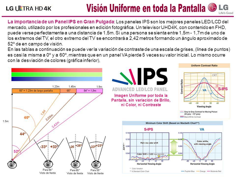 La importancia de un Panel IPS en Gran Pulgada: Los paneles IPS son los mejores paneles LED/LCD del mercado, utilizado por los profesionales en edició