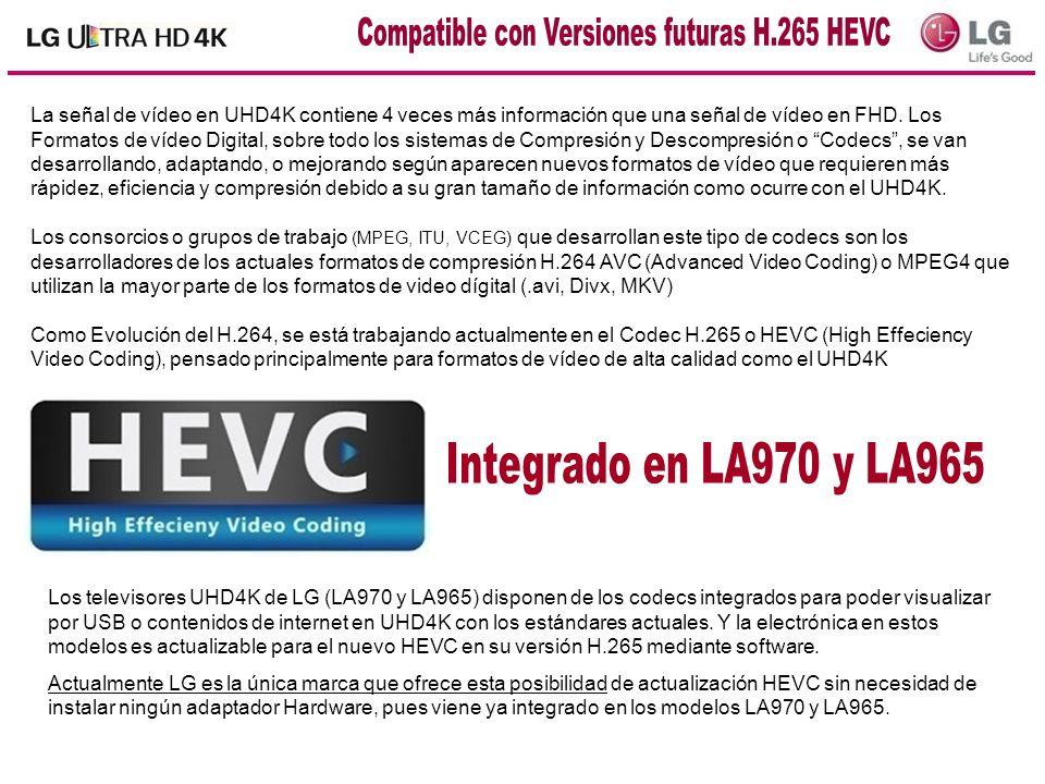 La señal de vídeo en UHD4K contiene 4 veces más información que una señal de vídeo en FHD. Los Formatos de vídeo Digital, sobre todo los sistemas de C