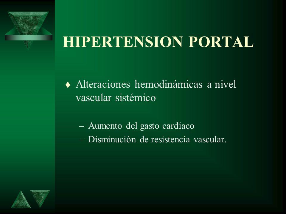 HIPERTENSION PORTAL TRATAMIENTO MEDICO ASCITIS Reposo Restricción –sodio de 250 a 500 mg/ 24 hrs –líquidos 1000 ml/24 hr Diuréticos –Espironolactona 100mg/24 hrs –Con hidroclortiazida 100mg/ 24 hrs.