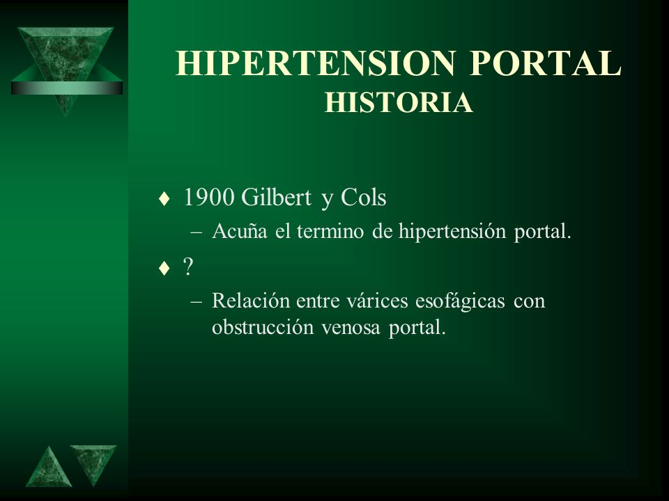 HIPERTENSION PORTAL HISTORIA 1903 Eck –Primera fistula en humanos.