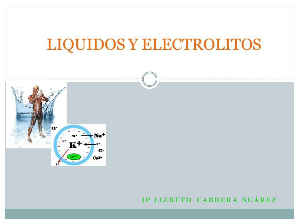 Líquidos y electrolitos Importante en el paciente quirúrgico ya que… Se observan cambios en el volumen de los líquidos y en la composición electrolítica en el preoperatorio, durante la intervención y después de ésta.