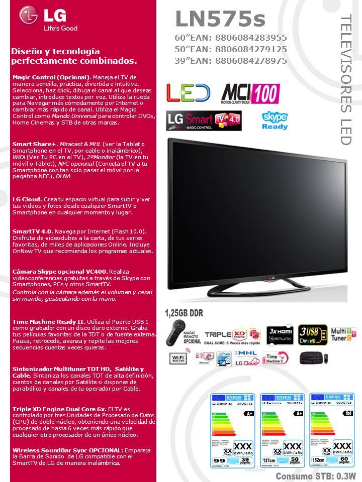 TELEVISORES LED Magic Control (Opcional). Maneja el TV de manera sencilla, práctica, divertida e intuitiva. Selecciona, haz click, dibuja el canal al