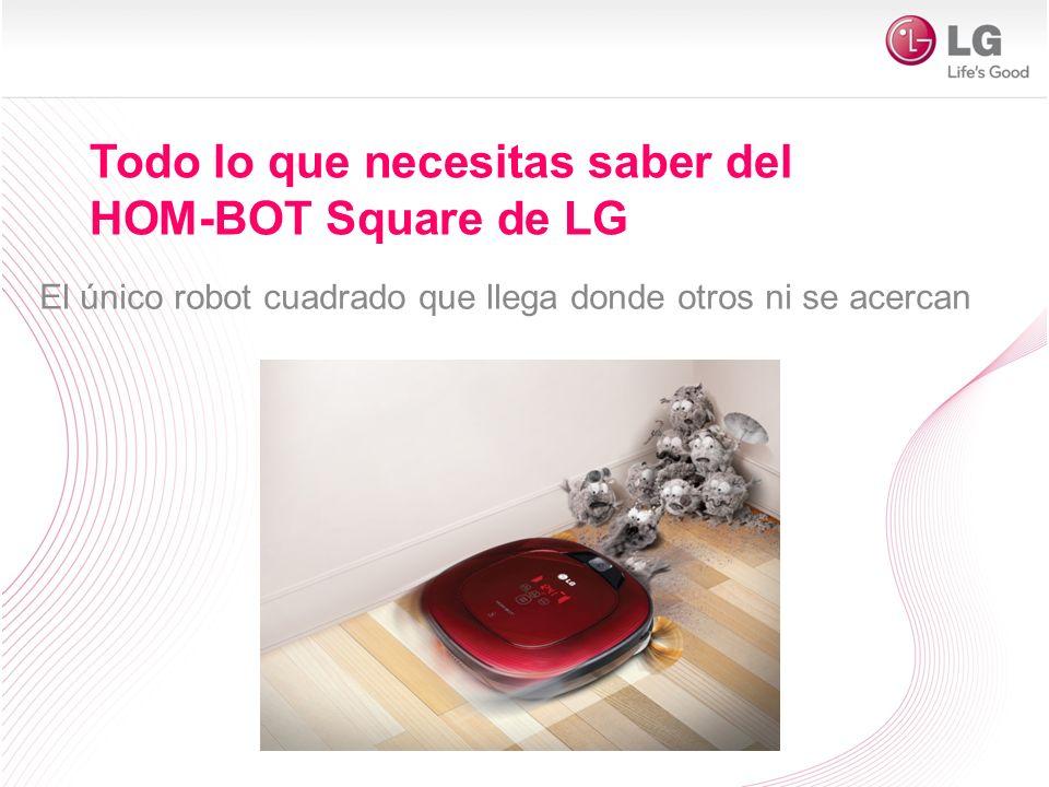 Todo lo que necesitas saber del HOM-BOT Square de LG El único robot cuadrado que llega donde otros ni se acercan