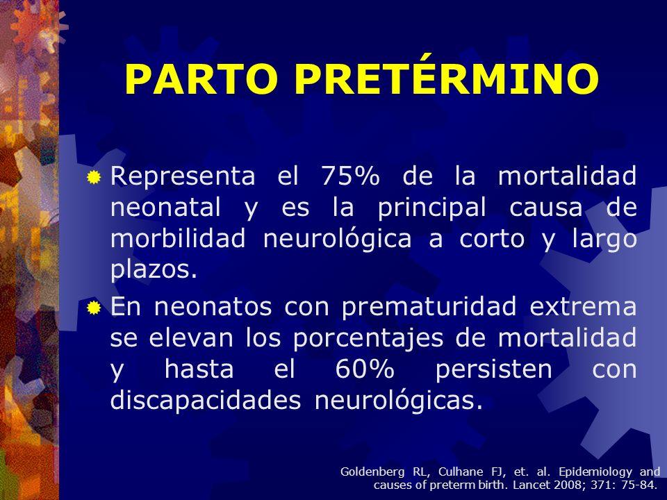 Representa el 75% de la mortalidad neonatal y es la principal causa de morbilidad neurológica a corto y largo plazos. En neonatos con prematuridad ext