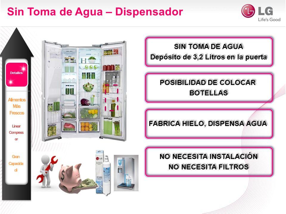 Serie Fresh 15- Sin toma de Agua CAPACIDAD AHORRO ENERGÉTICO AHORRO ENERGÉTICO DISEÑO CONERVACIÓN MÁS PRÁCTICO MÁS PRÁCTICO 506 l A+ / A++ Hasta un 20% Ahorro ENERGÉTICO A+ / A++ Hasta un 20% Ahorro ENERGÉTICO Platinium Antihuellas/ LUZ LED superior Platinium Antihuellas/ LUZ LED superior TOTAL NO FROST Magic Crisper TOTAL NO FROST Magic Crisper Sin toma de agua* (ver modelos) 2013 GSL325NSYZ GSL325NSYV A++ A+