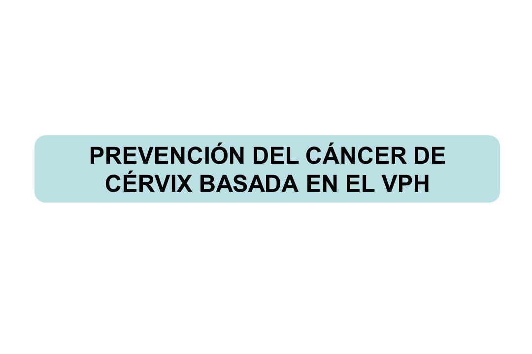 PREVENCIÓN DEL CÁNCER DE CÉRVIX BASADA EN EL VPH