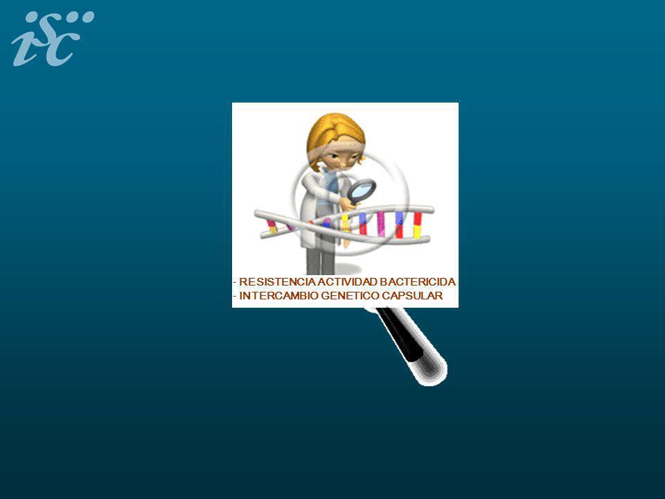 - RESISTENCIA ACTIVIDAD BACTERICIDA - INTERCAMBIO GENETICO CAPSULAR