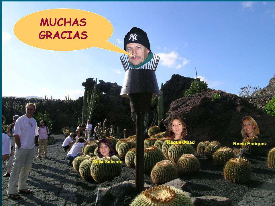Celia Salcedo Raquel Abad Rocio Enriquez MUCHAS GRACIAS