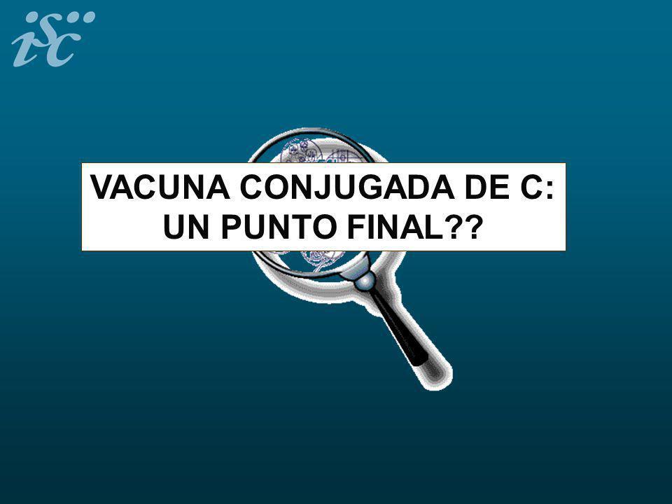 VACUNA CONJUGADA DE C: UN PUNTO FINAL