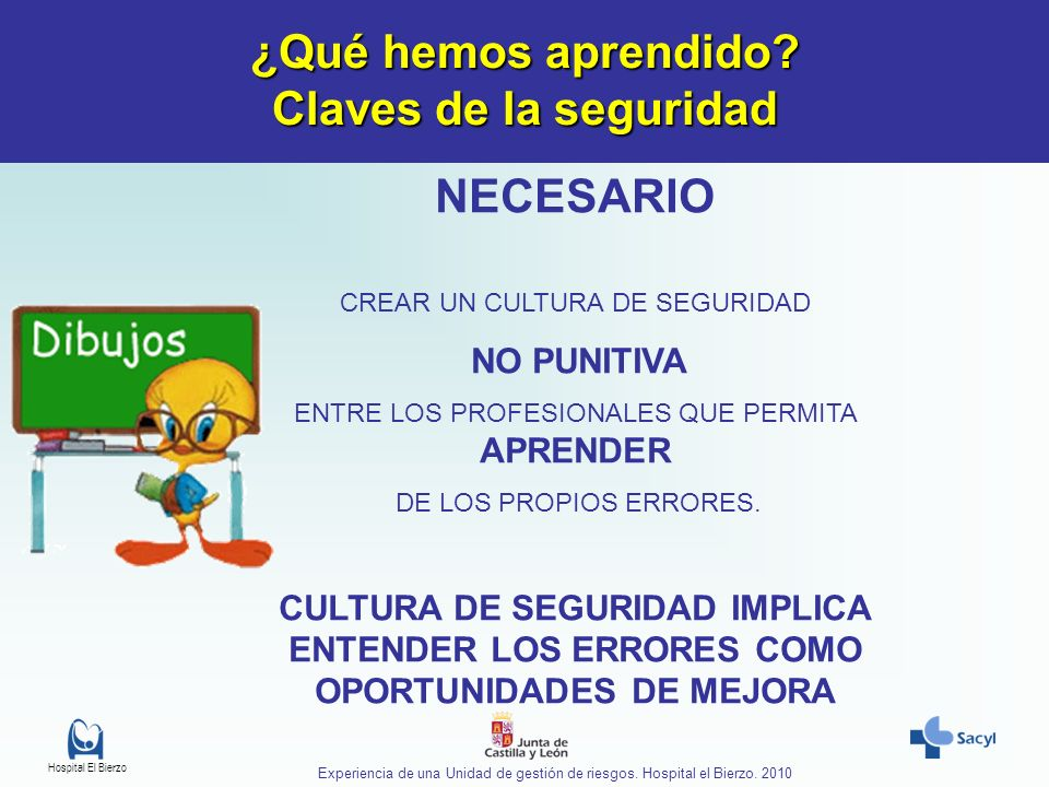 Hospital El Bierzo Experiencia de una Unidad de gestión de riesgos.