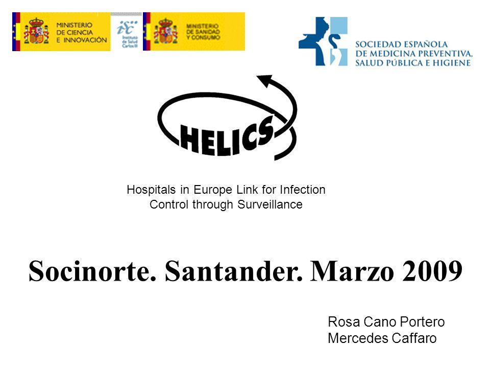 Hospitals in Europe Link for Infection Control through Surveillance Rosa Cano Portero Mercedes Caffaro Socinorte.