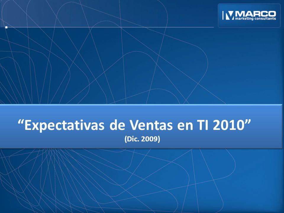 Expectativas de Ventas en TI 2010 (Dic. 2009)