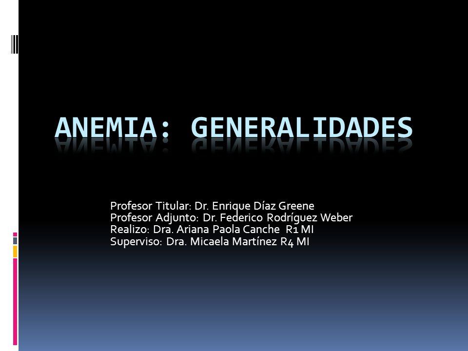 Profesor Titular: Dr. Enrique Díaz Greene Profesor Adjunto: Dr. Federico Rodríguez Weber Realizo: Dra. Ariana Paola Canche R1 MI Superviso: Dra. Micae