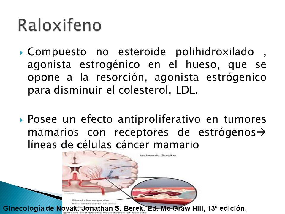 Compuesto no esteroide polihidroxilado, agonista estrogénico en el hueso, que se opone a la resorción, agonista estrógenico para disminuir el colester