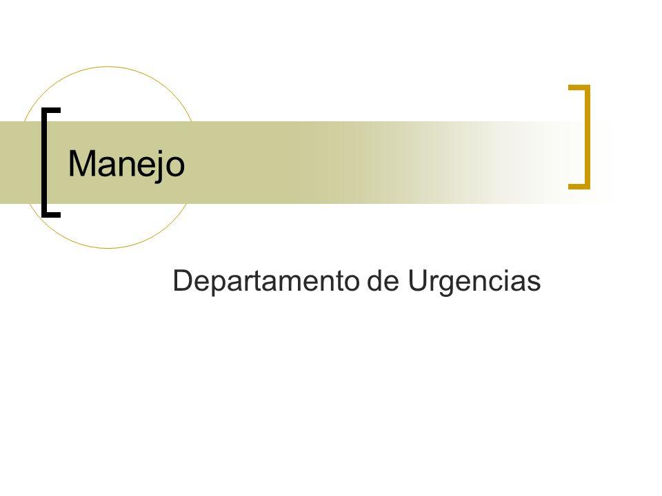 Manejo Departamento de Urgencias