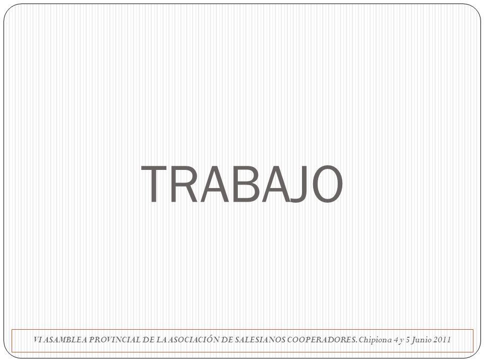 TRABAJO VI ASAMBLEA PROVINCIAL DE LA ASOCIACIÓN DE SALESIANOS COOPERADORES.