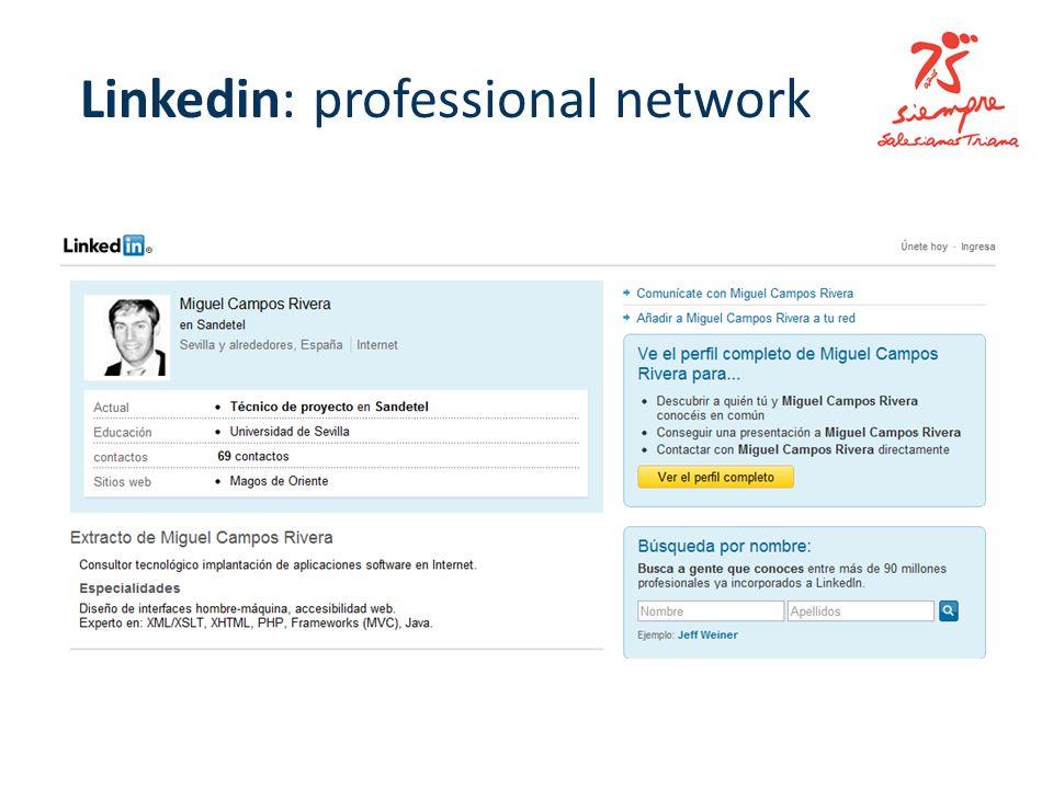 Linkedin: professional network