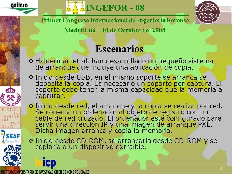INGEFOR - 08 Primer Congreso Internacional de Ingeniería Forense Madrid, 06 – 10 de Octubre de 2008 9 ¿Cuándo utilizarlas.