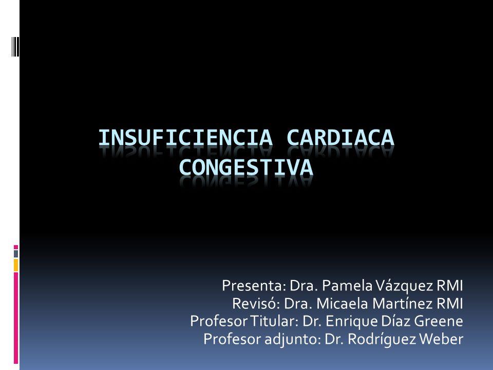 Mecanismos compensatorios Cardiacos.- Dilatación o hipertrofia ventricular Dilatación.- Mecanismo de Frank- Starling.