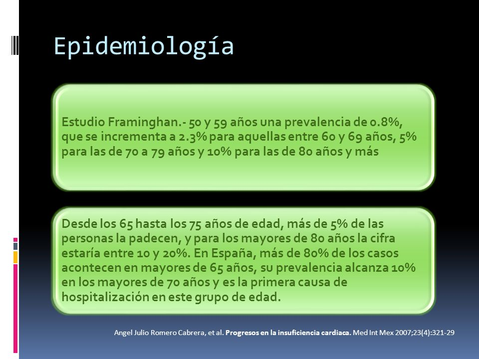 Epidemiología Enfermedad coronaria 60-70% Hipertensión contribuye 75% Países subdesarrollados enfermedad reumática Factor concomitante anemia Angel Julio Romero Cabrera, et al.