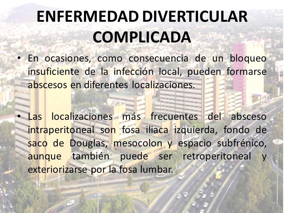 En ocasiones, como consecuencia de un bloqueo insuficiente de la infección local, pueden formarse abscesos en diferentes localizaciones. Las localizac
