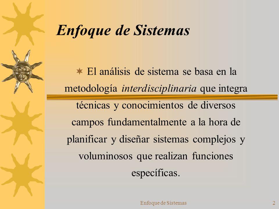 Enfoque de Sistemas 43 Conclusiones.