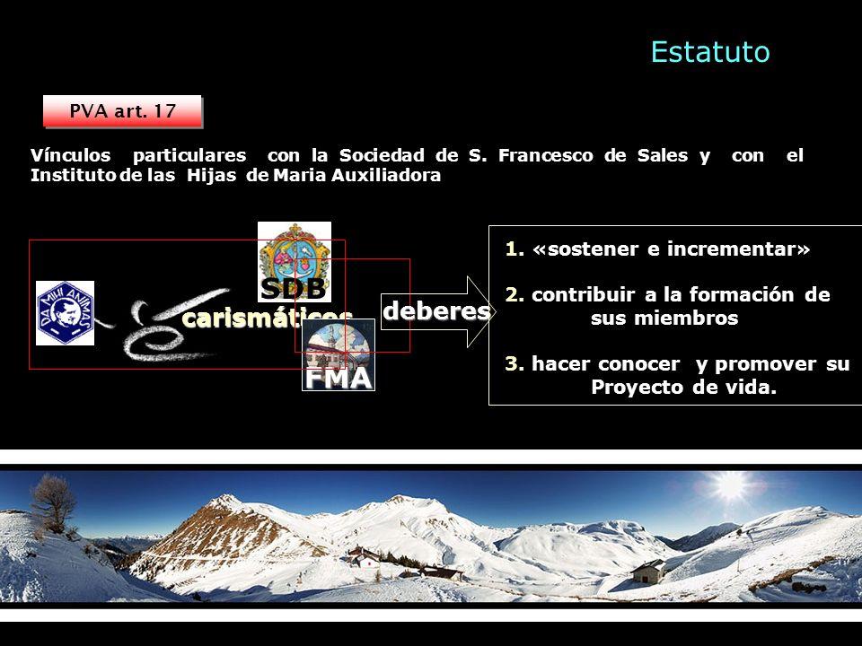 carismáticos PVA art. 17 Vínculos particulares con la Sociedad de S.