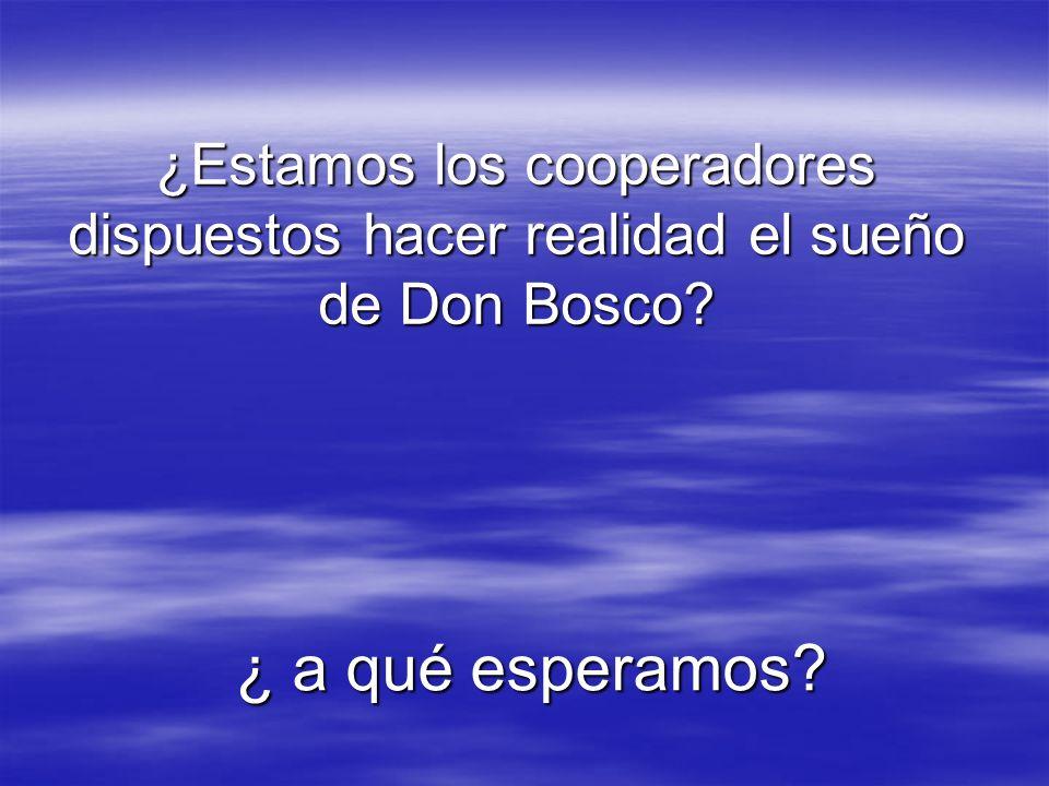 ¿Estamos los cooperadores dispuestos hacer realidad el sueño de Don Bosco? ¿ a qué esperamos?