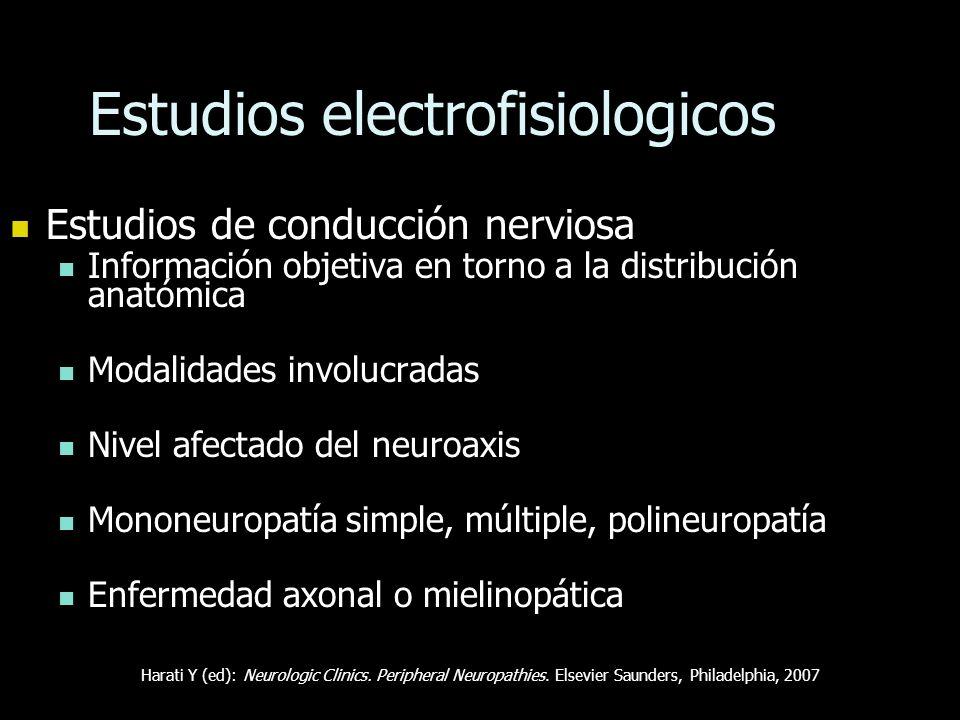Estudios electrofisiologicos Estudios de conducción nerviosa Estudios de conducción nerviosa Información objetiva en torno a la distribución anatómica
