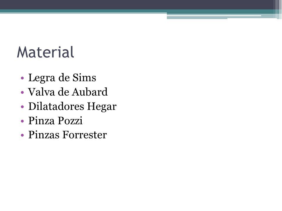 Material Legra de Sims Valva de Aubard Dilatadores Hegar Pinza Pozzi Pinzas Forrester