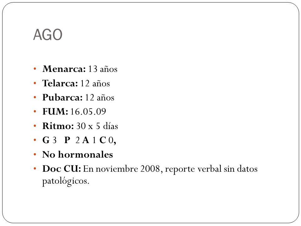 LABORATORIO Y GABINETE – Reacciones febriles: Tífico O positivo 1:80 Tífico H Positivo 1: 160 Paratífico A y B negativo, Brucella abortus negativo, Proteus OX-19 positivo 1: 80, Proteus Positivo 1:80 – TP 15.8, 60% INR 1.42 TPT 43.3