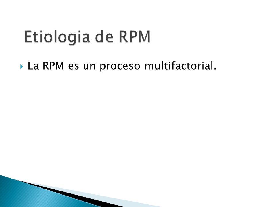 La RPM es un proceso multifactorial.