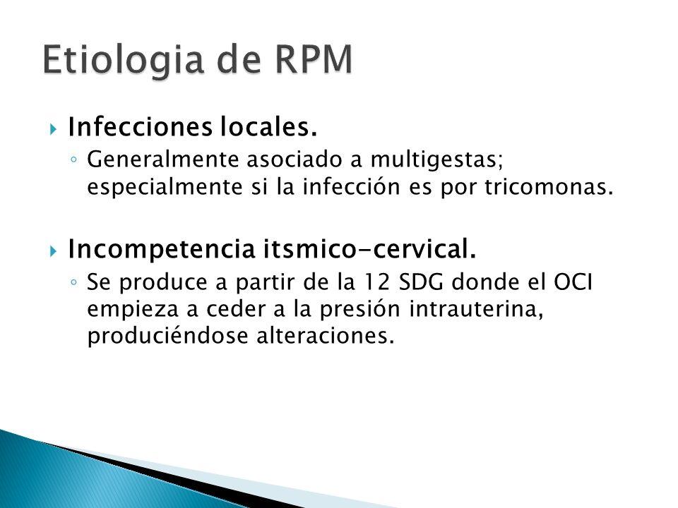 Infecciones locales.