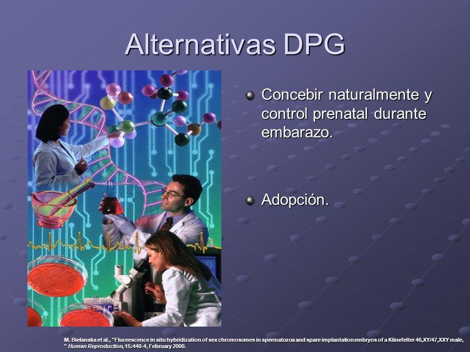 Alternativas DPG Concebir naturalmente y control prenatal durante embarazo. Adopción. M. Bielanska et al.,