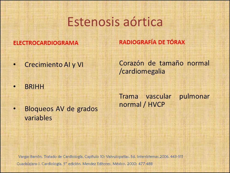 ELECTROCARDIOGRAMA Crecimiento AI y VI BRIHH Bloqueos AV de grados variables RADIOGRAFÍA DE TÓRAX Corazón de tamaño normal /cardiomegalia Trama vascul