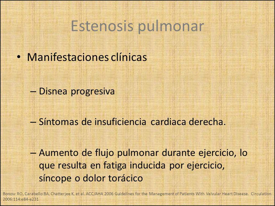 Manifestaciones clínicas – Disnea progresiva – Síntomas de insuficiencia cardiaca derecha. – Aumento de flujo pulmonar durante ejercicio, lo que resul