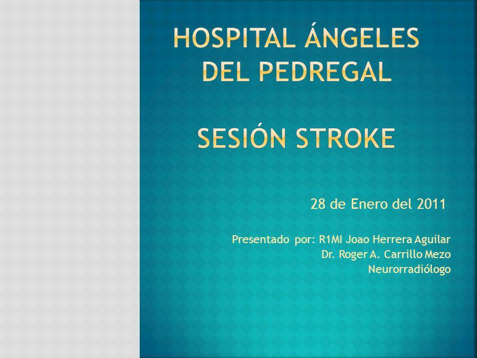 Presentado por: R1MI Joao Herrera Aguilar Dr. Roger A. Carrillo Mezo Neurorradiólogo 28 de Enero del 2011