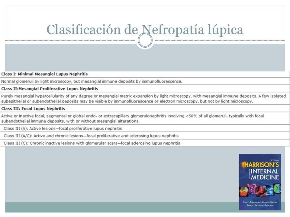 Clasificación de Nefropatía lúpica