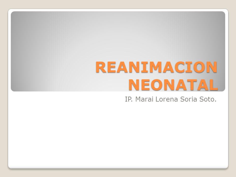 REANIMACION NEONATAL IP. Marai Lorena Soria Soto.