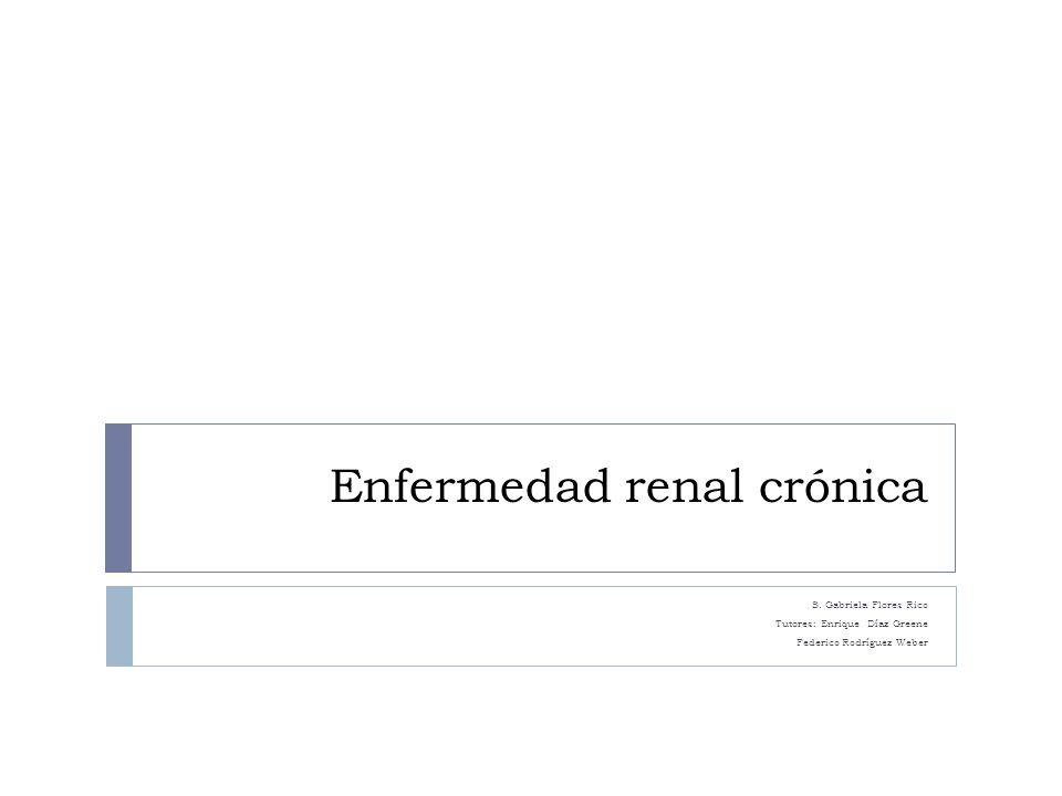 Enfermedad renal crónica S.