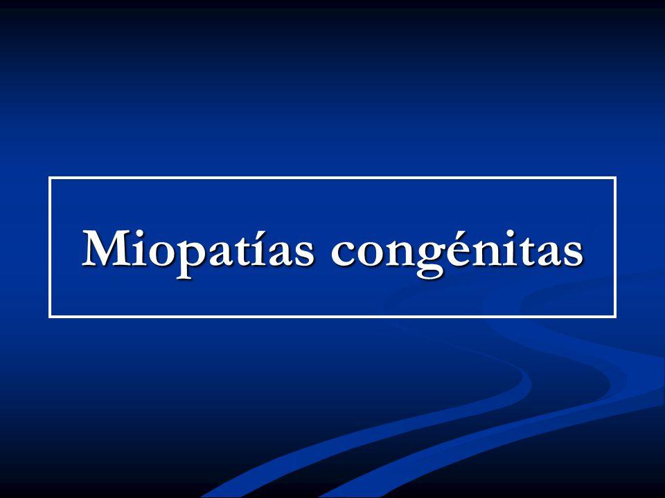 Miopatías congénitas