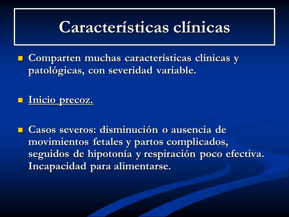 Características clínicas Comparten muchas características clínicas y patológicas, con severidad variable. Comparten muchas características clínicas y