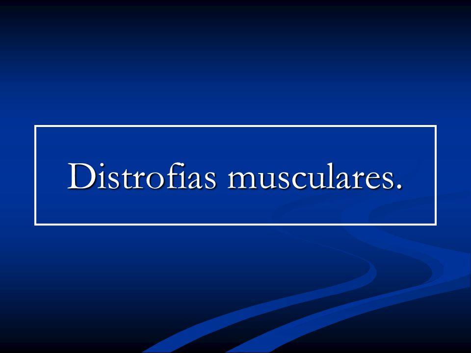 Distrofias musculares.