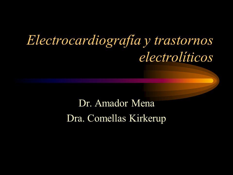 Electrocardiografía y trastornos electrolíticos Dr. Amador Mena Dra. Comellas Kirkerup