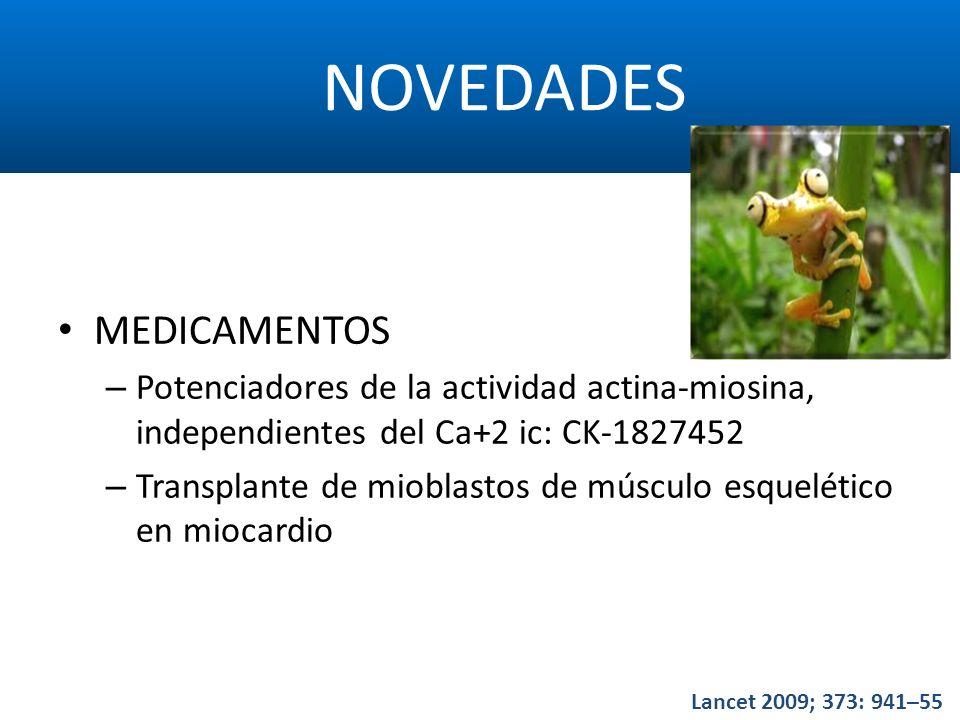 NOVEDADES MEDICAMENTOS – Potenciadores de la actividad actina-miosina, independientes del Ca+2 ic: CK-1827452 – Transplante de mioblastos de músculo e